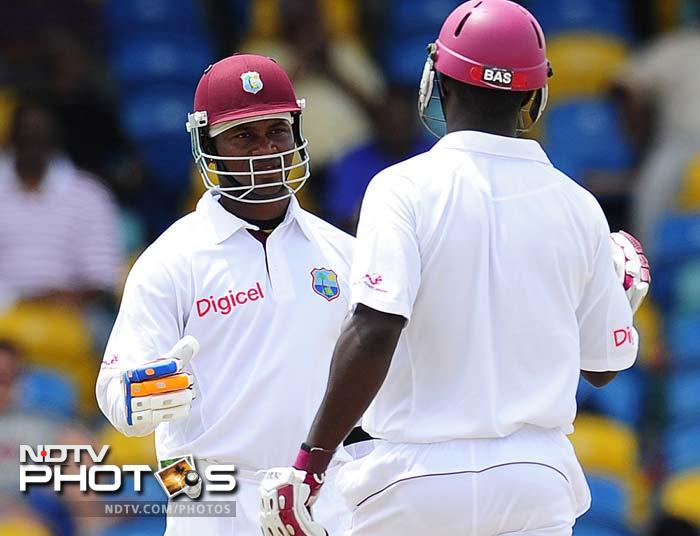 Before Sammy's dismissal, the skipper stitched together a vital 43-run partnership for the 8th wicket, with Samuels. (AFP Photo)