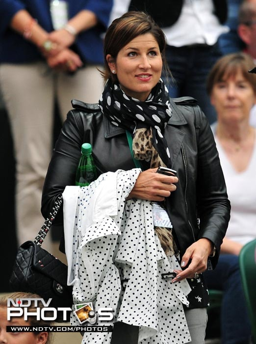 Mirka Vavrinec, partner of Roger Federer, was as always in the stands to support her husband in his match against Adrian Mannarino. (AFP Photo)