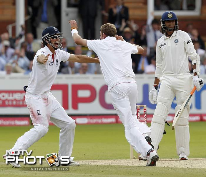 Broad made the last Indian wicket his when he removed Ishant Sharma to finish the innings with three wickets to his credit and a historic win over the World Champions for his side.