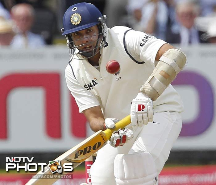 VVS Laxman anchored himself on the other end and brought up his half-century. He looked to take the attack to the hosts with his resilient batting.