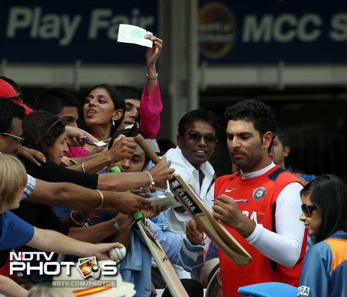 The loss meant that the Indians could do very little apart from a few opting to oblige spectators by signing autographs.