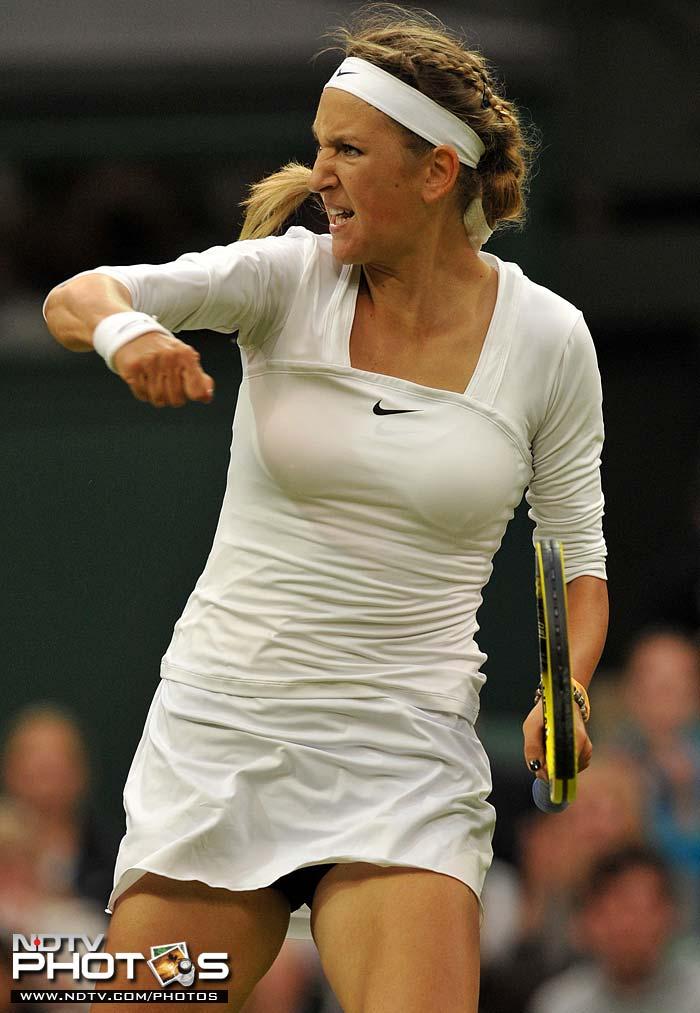 4th seed Victoria Azarenka got the better of Slovakian Daniela Hantuchova in their round 3 match. (AFP Photo)