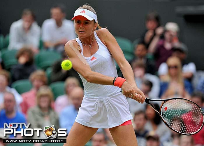 Daniela Hantuchova fought hard but could not prevail despite winning the 2nd set. (AFP Photo)