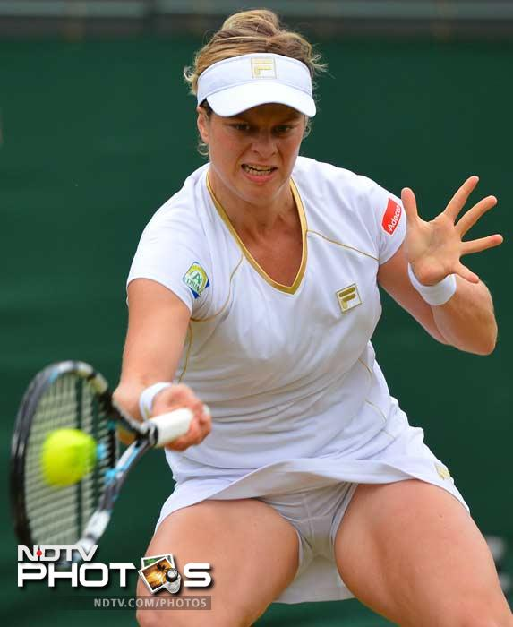 It was heart-break however for Kim Clijsters who bade farewell to Wimbledon for the final time, losing 6-1, 6-1 in the fourth round to German eighth seed Angelique Kerber.