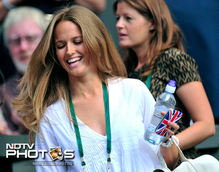 Murray's girlfriend, Kim Sears was also among the thousands of supporters cheering on the local lad. (AFP Photo)
