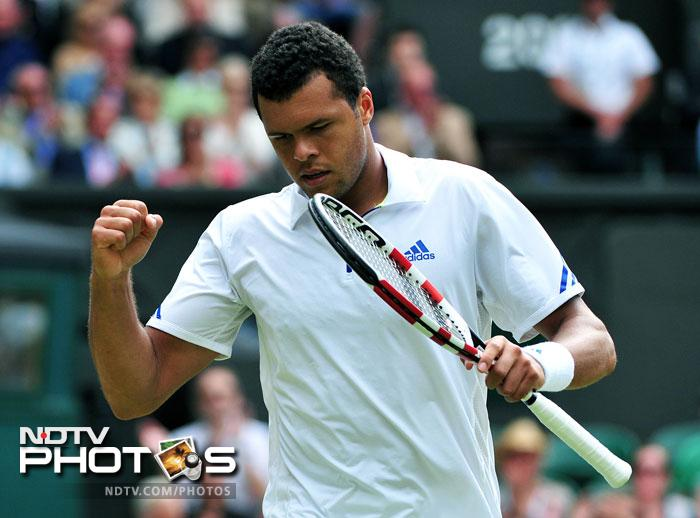 Tsonga was the unlikely winner against Federer, especially after having lost the first two sets. (AFP Photo)