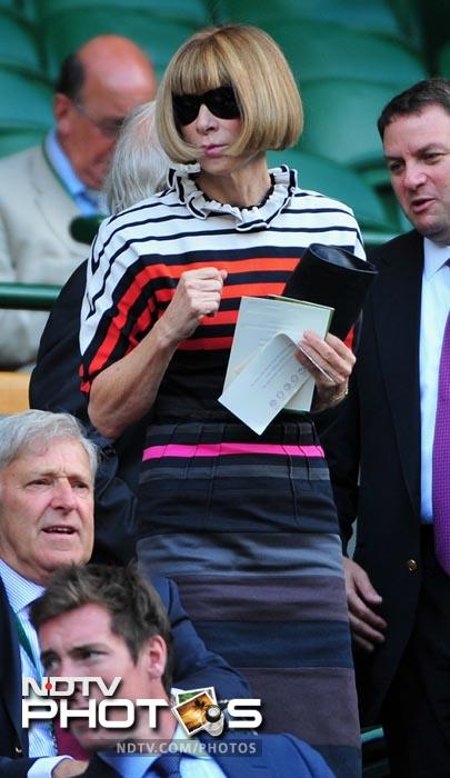 Anna Wintour, US Vogue editor in chief, was among the spectators to witness Federer's epic loss. (AFP Photo)