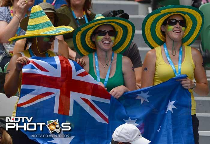 Thursday's action from the Australian Open was once again, all about superb on-court action, soaring temperatures and quotes fired to pump the adrenaline up. <br><br> A look at the day's highlights (AFP and AP images)