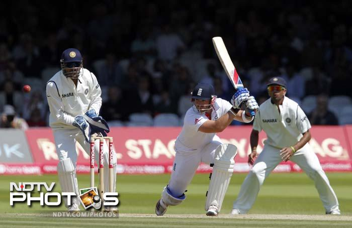 The reversal only came when Matt Prior took charge of the situation for England. He anchored himself in and was well supported by Stuart Broad at the other end.