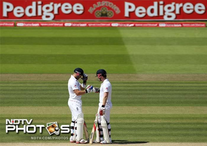 The duo negotiated the bowling with confidence and struck the occasional boundaries to frustrate the Indians.