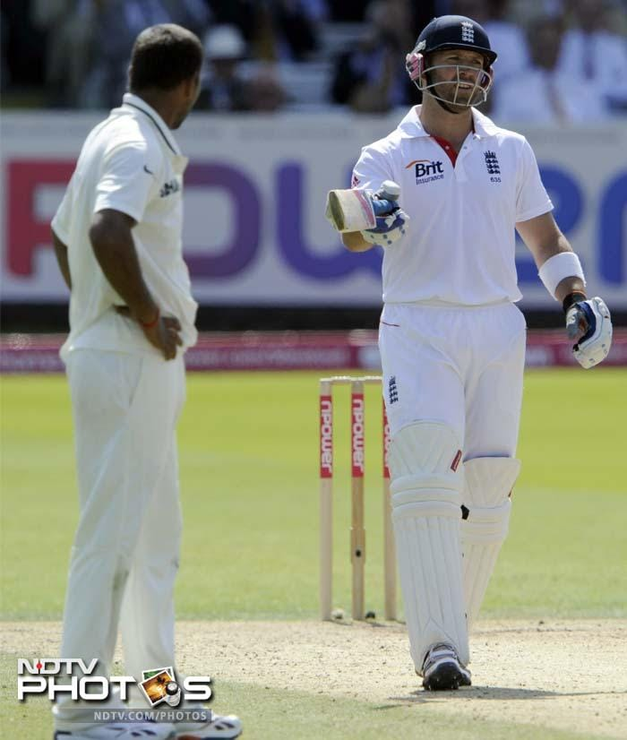 There was the also the rare altercations but Prior kept his composure and completed a deserving half-century.
