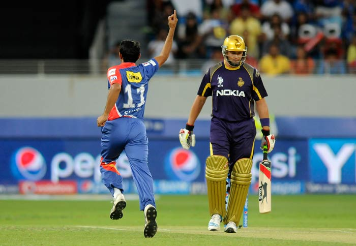 The Daredevils were off to a fabulous start when Jacques Kallis fell off the first delivery of the match - Mohammad Shami striking first blood. (BCCI image)
