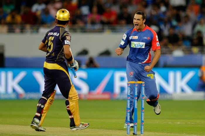 Nathan Coulter Nile delivered the second blow in the next over when he removed KKR skipper Gautam Gambhir. <br><br>Gambhir, like Kallis, failed to open his account. (BCCI image)