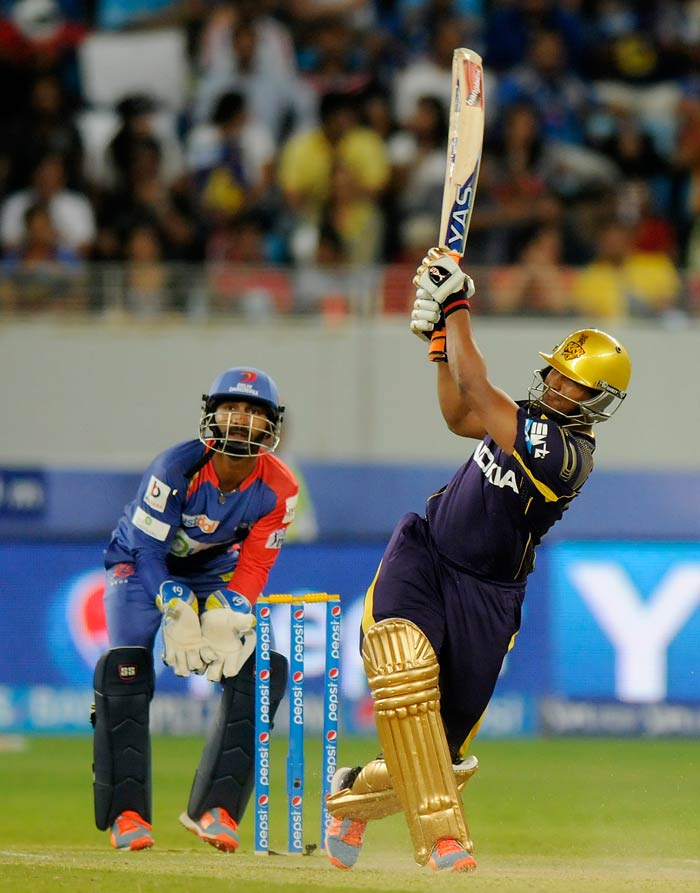 Shakib-al-Hasan's unbeaten 30 off 22 took KKR's total to 166/5 in the allotted overs. (BCCI image)