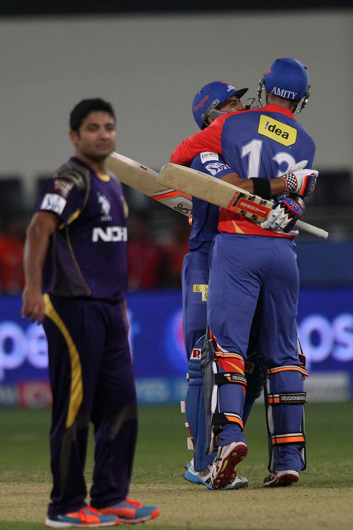 Delhi Daredevils registered their first win of the season by defeating 2012 champions Kolkata Knight Riders by 4 wickets. <br><br>A look at some of the highlights from the match. (BCCI image)