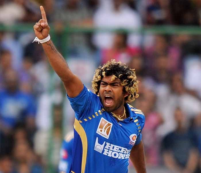Sri Lankan slinger Lasith Malinga took top honours from the match as he scalped five wickets and bowled with unparalleled ferocity to silence the crowds and leave the batting in disarray. (AFP PHOTO)