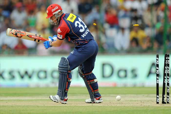 The start though, soon translated into a flurry of wickets as the Delhi Daredevils kept losing wickets without adding much to the total tally. (AFP PHOTO)