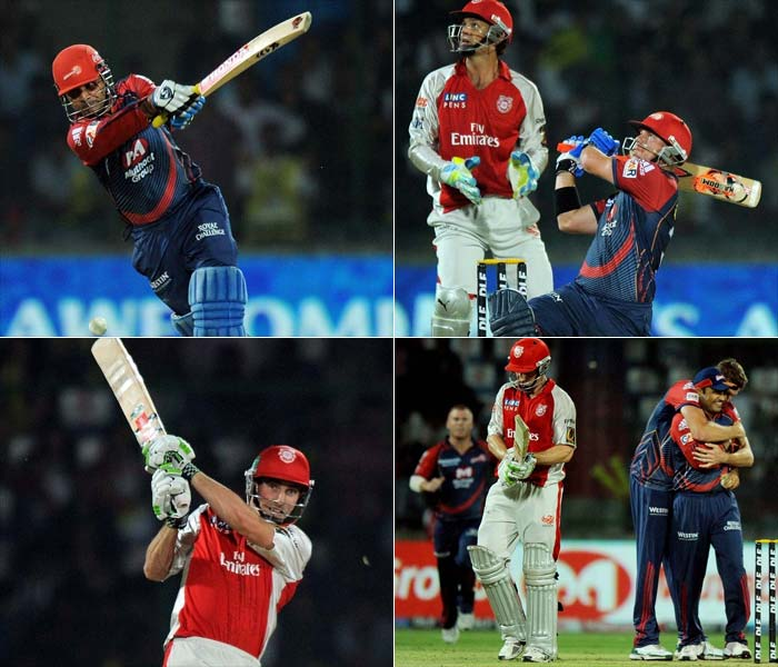 Brace for this. Over 400 runs from 40 overs. As many as 23 sixes from two innings. Best bowling economy of 8.00. And if the commentators were to be believed, 1.84 kilometers was the cumulative distance of sixes hit during the match between the Delhi Daredevils and the Kings XI Punjab on Saturday. (AFP Photos)