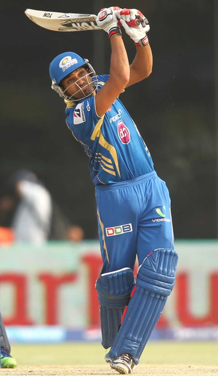 Mumbai's Rohit Sharma was instrumental in powering the innings after his team opted to bat first.