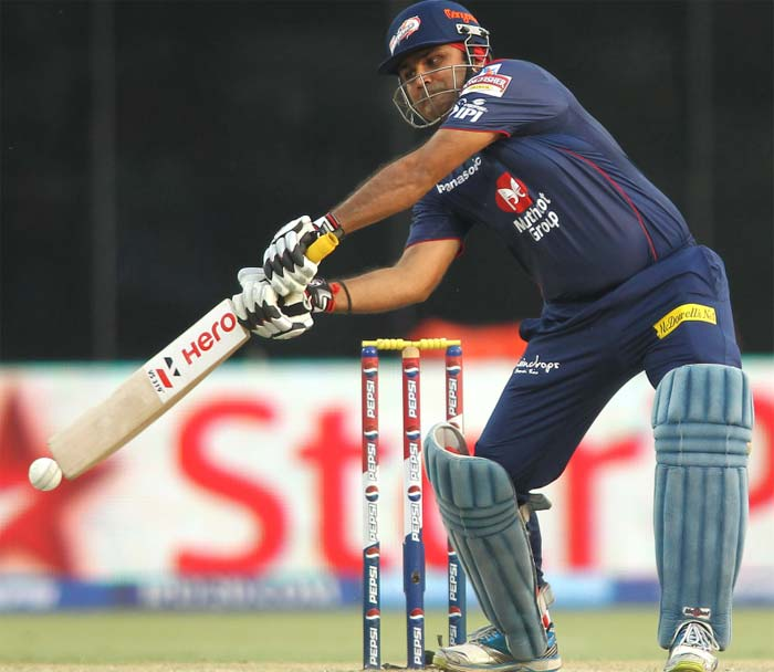 Chasing Mumbai's decent total of 161, Sehwag unleashed his full fury as he smashed 95 off just 57 deliveries. (BCCI image)