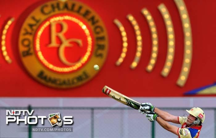 Bangalore Royal Challengers scored 158 which may not have looked daunting but Delhi batsmen failed to stage a fight, eventually losing by 20 runs. A look at how the first match on fourth day of IPL 2012, panned out. (AFP and AP images)