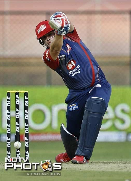 The other opener in Aaron Finch batted well for his 25 and was partnered well by Naman Ojha (33) (not in the picture). (AP Photo/Aijaz Rahi)