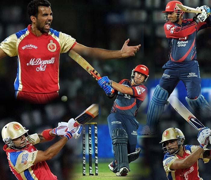 Both teams played hard, battled harder but the match at the Feroze Shah Kotla between the Delhi Daredevils and the Royal Challengers Bangalore had to have just one winner. A look at Tuesday's match. (AFP Photo)