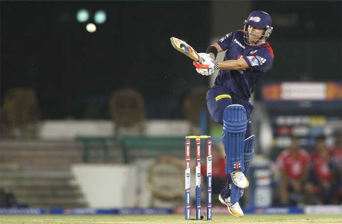Warner then cut loose and smashed 51 from 25 and along with Kedar Jadhav saw Delhi to a handsome 164/5. (Image Credit BCCI)