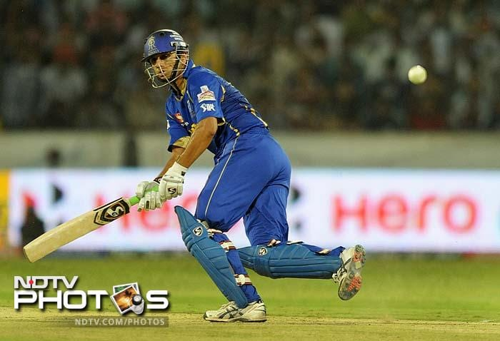 Skipper Rahul Dravid was the only batsman to score some useful runs in the Rajasthan innings as he was the highest scorer with 39 runs.