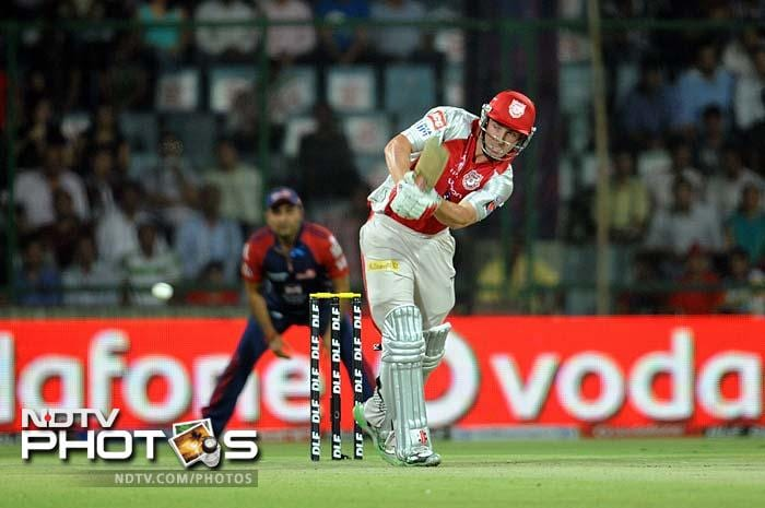 Kings XI had an iffy start after opting to bat. The openers were sent back with the score on 43 inside 6 overs. (AFP PHOTO/RAVEENDRAN)