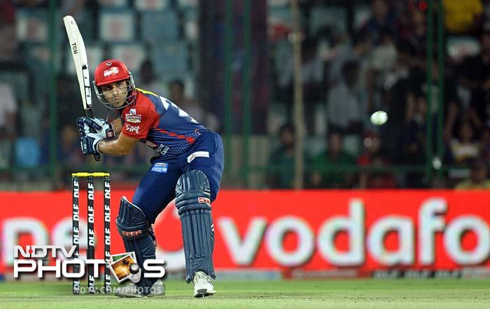 It was the innings of Naman Ojha that began turning the tide. He hit 34 off 20 with two massive sixes to threaten a win. (AFP PHOTO/RAVEENDRAN)