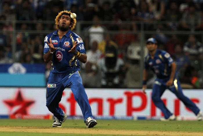 Lasith Malinga, returning from injury, too impressed with a flurry of yorkers and slower balls. He took the wicket of Kedar Jadhav. (BCCI Image)