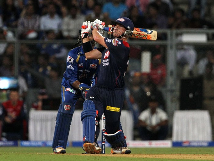 Delhi too decided to do a Mumbai in their innings. Warner and young Manprit Juneja not only steadied the ship just as Karthik and Rohit had done, they also played freely to keep the visitors in hunt, but not for long. (BCCI Image)