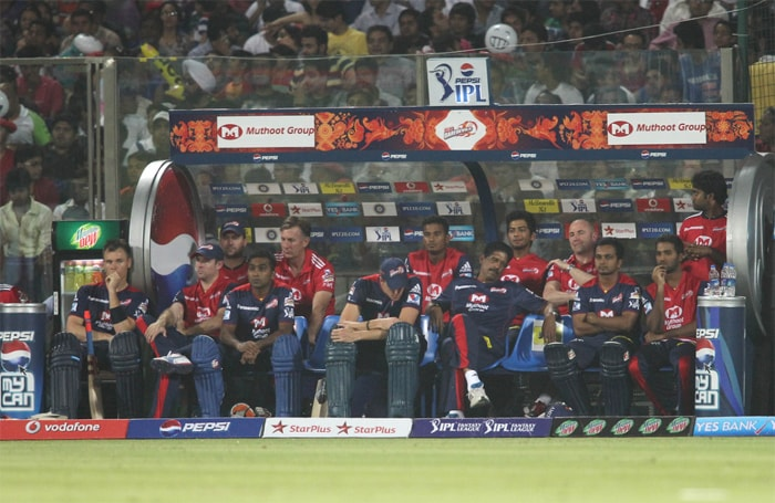 The Delhi dug-out had much the same expression as in the image for all of their batting innings. (BCCI Image)