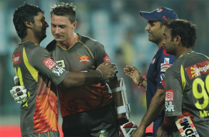Delhi Daredevils were condemned to their fourth successive defeat as Sunrisers Hyderabad completed a narrow 3-wicket win over the home side in the 14th match of the Indian Premier League 2013 here at the Feroz Shah Kotla, Delhi. (BCCI Image)