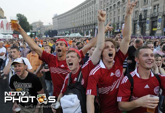 There was jubilation for Danish fans who will now support their team with renewed belief that they can emulate their shock Euro triumph from 1992.