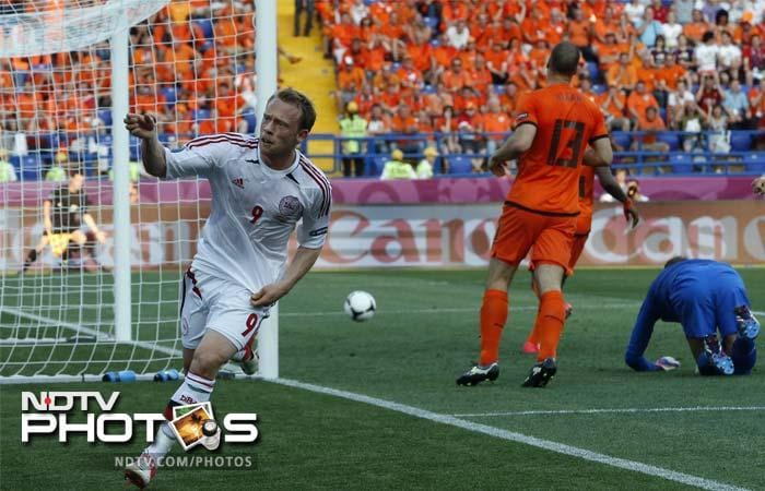 Forward Michael Krohn-Dehli claimed the game's only goal mid-way through the first half, as Denmark avenged their opening-game loss at the 2010 World Cup and recorded a first win over the Dutch since 1967.