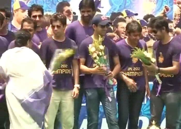 The jubilation was for all to see as the team was greeted by state officials.