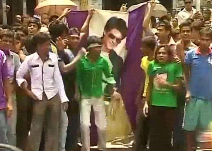 The streets of the city were filled with people celebrating the Indian Premier League win.