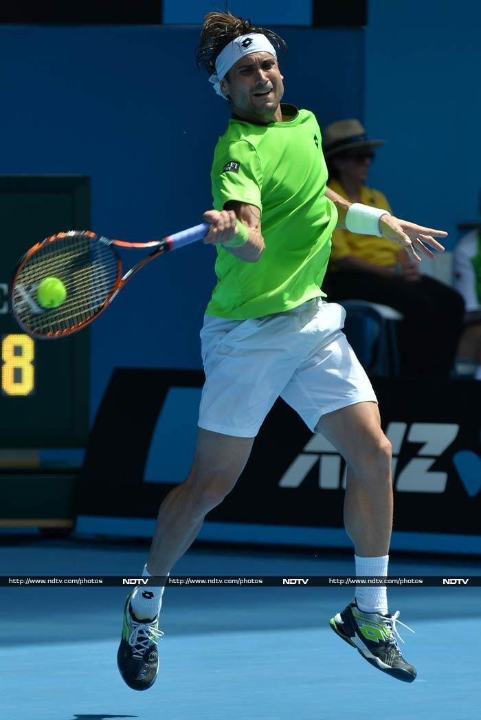 David Ferrer dropped the opening set in a tiebreaker before going on to win 6-7 (5/7), 7-5, 6-2, 6-1 in just under three hours on Hisense Arena.