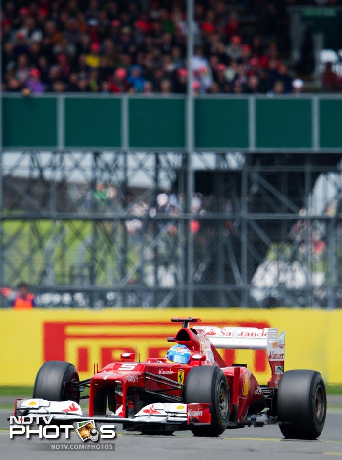 Fernando Alonso had to settle for second place in a race he had dominated for the most part.