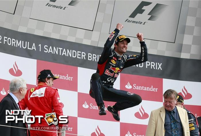 Mark Webber of Red Bull came up trumps at Silverstone as he won the British Grand Prix. (Photos AFP & AP)