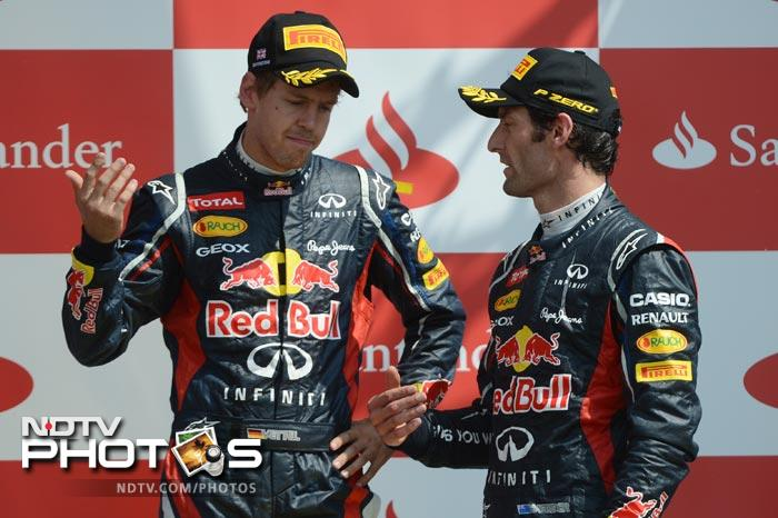 Sebastian Vettel came in third and ensured that Red Bull had two drivers in the top three giving them more reason to celebrate.