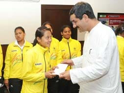 Photo : Indian Junior Women Hockey team felicitated by Sports Ministry