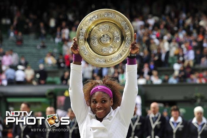 Serena Williams won her fifth Ladies' Singles Wimbledon title after she defeated Agnieszka Radwanska in the final. (All Photos AFP)