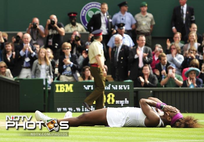 This was Serena's fourteenth title in her career as she could not hold back her emotions after winning the match.