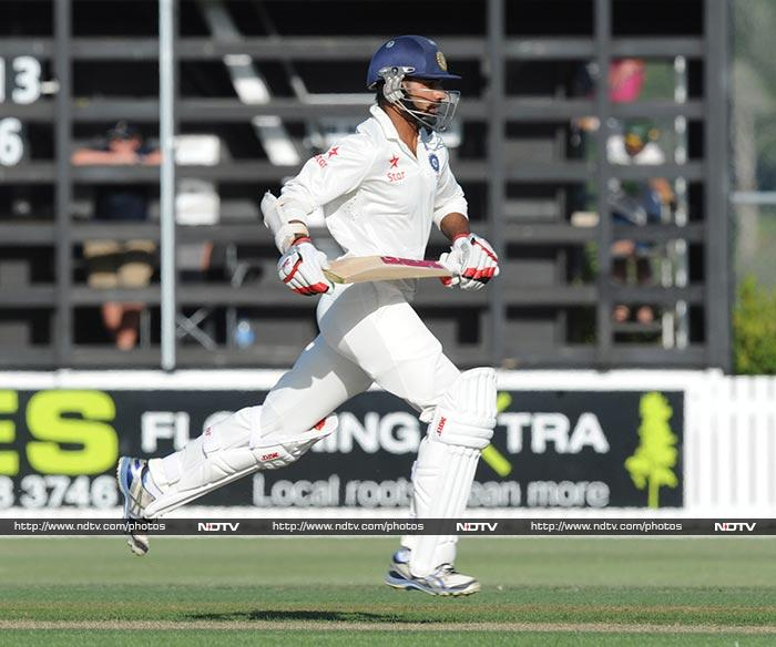 India ended Day 3 on 87/1 needing another 320 runs to win against New Zealand in Auckland. (AP/AFP)