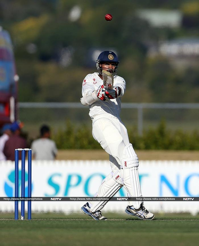 Shikhar Dhawan looked to be finding his form as he ended the day unbeaten on 49 along with Cheteshwar Pujara who was on on 22. India still need 320 to win with 9 wickets in hand and two days left to play.
