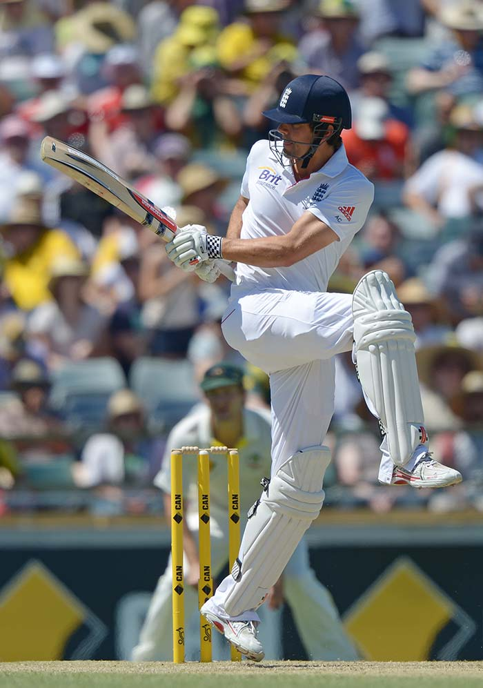 Alastair Cook led by example with a fluent 72. His wicket late in the day was the boost Australia needed going into the third day.