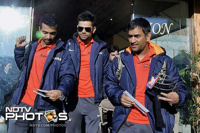Yes. They are in Dharamsala. Players from India and England arrived to a warm reception for the final ODI of the series.<br><br> Just that the weather was not quite warm - minimum just below zero! (PTI image)